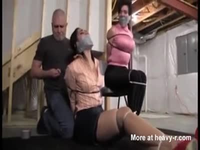 2 MILF's Kidnap Rape Bondage Hogtie Torment