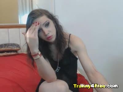 Sexy Tranny Wild Webcam Show
