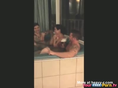 Jacuzzi Gangbang Party