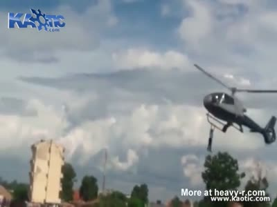 Disabled Guy Goes For Free Helicopter Ride