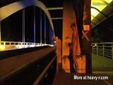 Public Jerking On Bridge