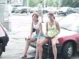 Girls Pissing On Car