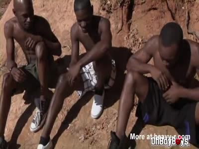 Black guys fuck in the savanna. This is a true nature film!