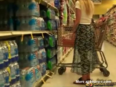 Girl Fucking Cucumber In Supermarket