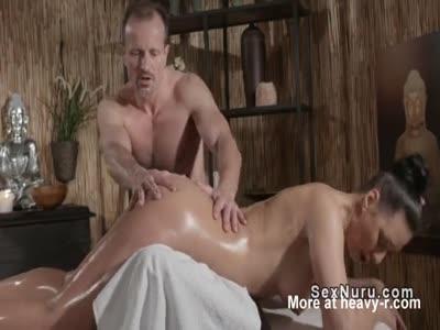 Massaging Her Sexy Chubby Body