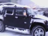 Truck towed by hummer