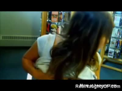 Teen GF Flashing in Public Library!