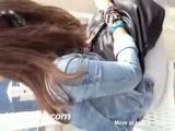 Public Cumshot On Unknown Girl