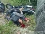 Bad Motorcylce Accident Aftermath