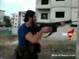 Syrian Rambo shot down in fire fight