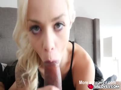 Elsa Jean and her step brother have sex in bedroom