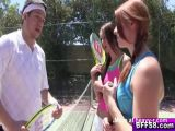 Tennis Lessons Threesome