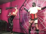 Domina Melissa torments fat slave