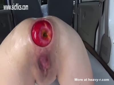 Anal Apple Insertion