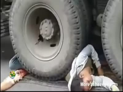 Asian Women Crushed By Truck