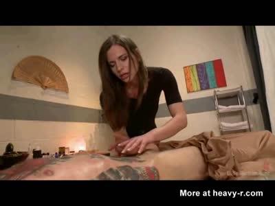 Tranny Masseuse Jizzes On Her Client!