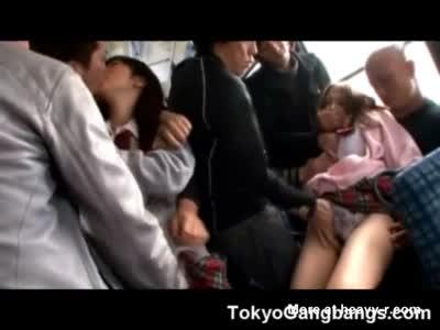 Schoolgirls Abused By Pervs In Bus
