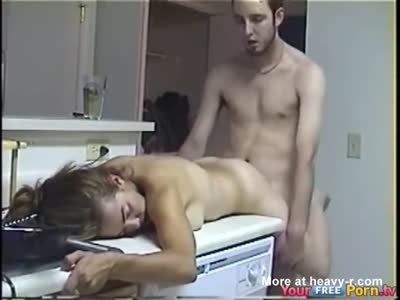 Fucking BFF On Kitchen Sink