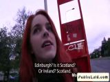 Scotish redhead amateur banging in public