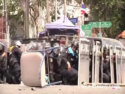 Riot Cop Loses His Foot To A Grenade