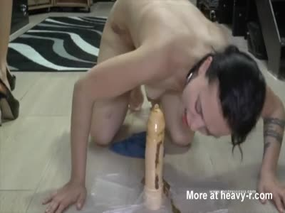 Sucking Off Shitty Dildo
