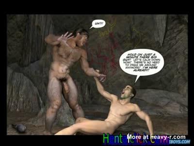 Horny primitif hentai hunk hot bareback fucks