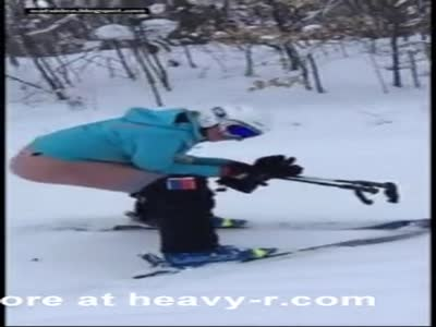 Public defecation - Amateur skiing and pooping