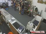 Poor guy convinced to gay sex in pawn shop!