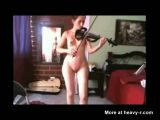 Playing The Violin Naked