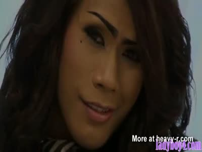 Tall ladyboy fucking a guy up his ass