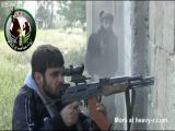 FSA Fighter Hit By SAA Sniper In The Face