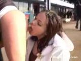 Lesbian Mouth Pissing In Public