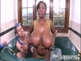 Big Ass Black Chick With Natural Tits