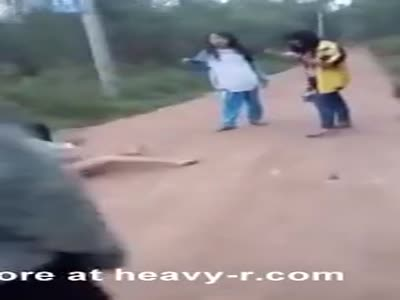 A Chinese girl is Stripped Naked and Beaten by classmates