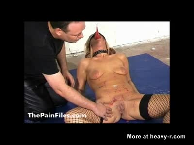 Candle Waxing Blindfolded Blonde