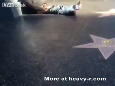 Public Masturbator On Hollywood Walk of Fame