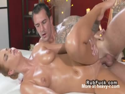 Masseuse Rubbing Dude With Tits