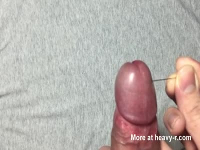 Needles through cock 2