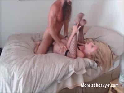 Bearded Man Gives Her Pleasure