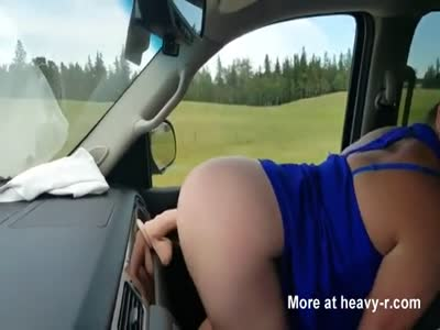 Dildo Fuck While Driving