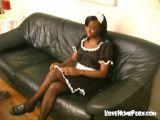 Black Maid Gets Spanked