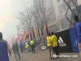 Close Up Bomb Explosion At Boston Marathon
