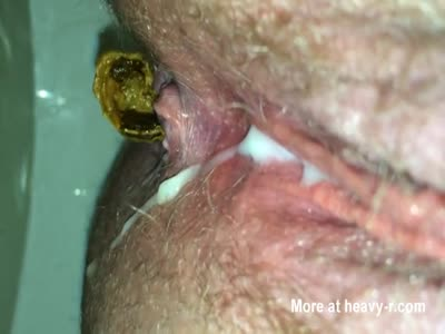 Extreme Close Up Shit and Piss