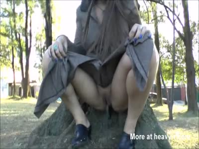 Busty latina babes public nudity and outdoor peeing of exhib