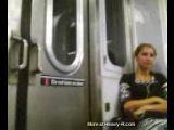 Teen on train