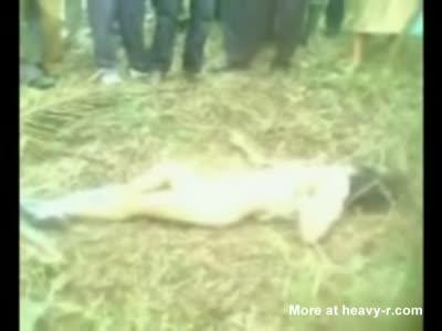 Dead raped naked girl